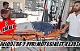 İnegöl'de 2 ayrı motosiklet kazası:2 yaralı