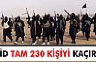 IŞİD tam 230 kişiyi kaçırdı