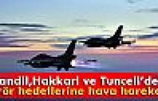 Kandil, Hakkari ve Tunceli'deki terör hedeflerine...