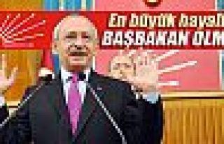 Kılıçdaroğlu: 'En büyük hayalim başbakan olmak'