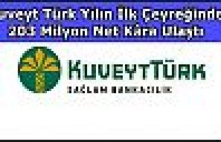 Kuveyt Türk Yılın İlk Çeyreğinde 203 Milyon...