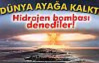 Kuzey Kore hidrojen bombasını denedi