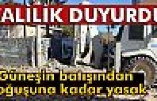 Mardin'de izinsiz iş makinesi kullanımı yasaklandı