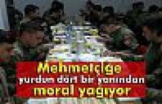 Mehmetçiğe yurdun dört bir yanından moral yağıyor