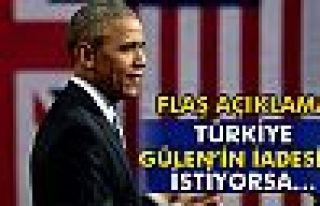 Obama: 'Türkiye, Gülen'i darbeyle ilişkilendirecek...