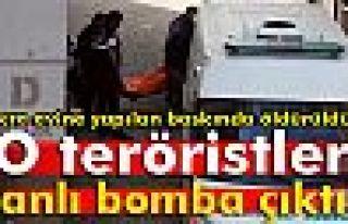 Öldürülen teröristler canlı bomba çıktı
