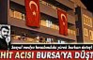 Şehit polisin acısı Bursa'ya düştü