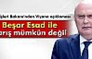 Sinirlioğlu: 'Beşar Esad ile barış mümkün değil'