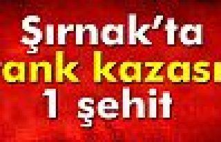 Şırnak'ta tank kazası: 1 asker şehit, 1 asker...