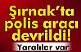 Şırnak'ta zırhlı polis aracı devrildi: 8 yaralı