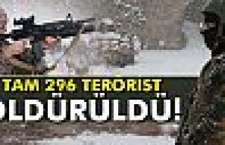 Sur, Cizre ve Silopi'de 296 terörist etkisiz hale...