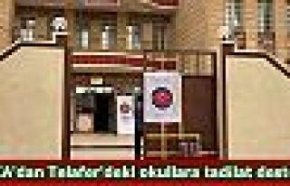 TİKA'dan Telafer'deki okullara tadilat desteği