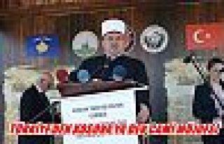 Türkiye'den kosavaya dev cami müjdesi