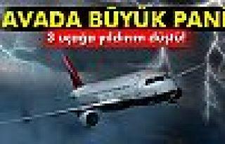 Yıldırım çarpan 3 uçak İstanbul'a geri döndü