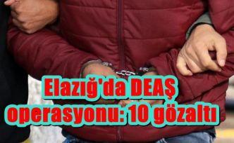 Elazığ'da DEAŞ operasyonu: 10 gözaltı