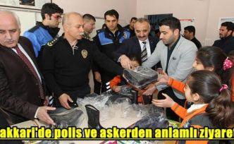 Hakkari'de polis ve askerden anlamlı ziyaret