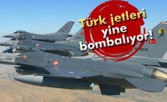 Türk jetleri yine bombalıyor
