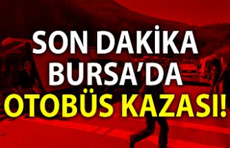 """Osmangazi Dobruca mevkiinde tur otobüsü devrildi. Şoför """"Bilerek Devirdim"""" dedi"""