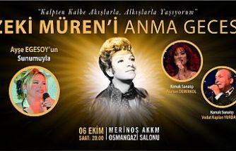 Osmangazi'den Zeki Müren'i Anma Gecesi