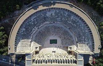 Turkish Airlines Antalya Open'da ilk atış Aspendos'ta yapıldı