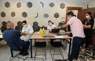 Bursa'da sanayi üretim tesislerinde antikor testlerine devam ediliyor