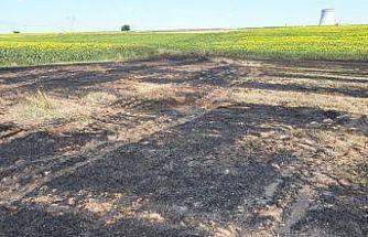 Kırklareli'nde buğday tarlasında çıkan yangın söndürüldü