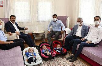 Gümüşhane'de üçüz bebeklerine 'Recep', 'Tayyip' ve 'Erdoğan' isimleri verdi
