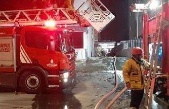 Fabrika deposunda çıkan yangın söndürüldü