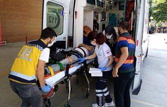 Bursa'da 6 metre yükseklikten düşen ambulansta bulunan hasta yaralandı