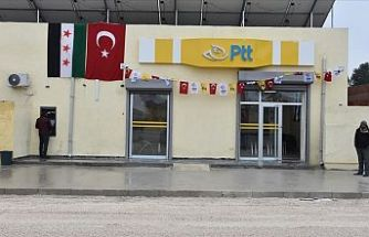 Barış Pınarı Harekatı bölgesinde PTT şubesi açıldı