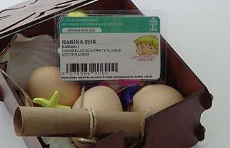 Çanakkale'de bir çift, kitap sevgisi aşılamak için 18 günlük bebeklerini kütüphaneye kaydettirdi