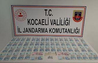 Kocaeli'de piyasaya sahte para sürmeye çalışan şüpheli yakalandı