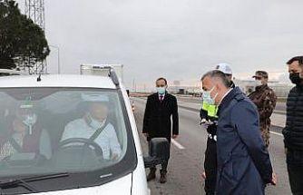 Vaka artışlarında ilk sırada olan Kırklareli'nde, Vali Osman Bilgin denetimlere katıldı