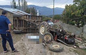 Bilecik'te traktörün devrilmesi sonucu 1 kişi öldü 1 kişi yaralandı