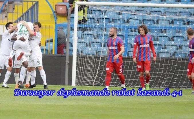 Bursaspor deplasmanda rahat kazandı 4-1