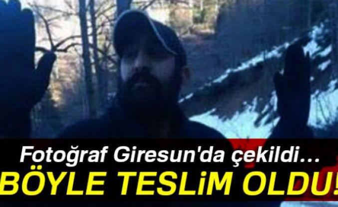 PKK'lı terörist Giresun'da işte böyle teslim oldu