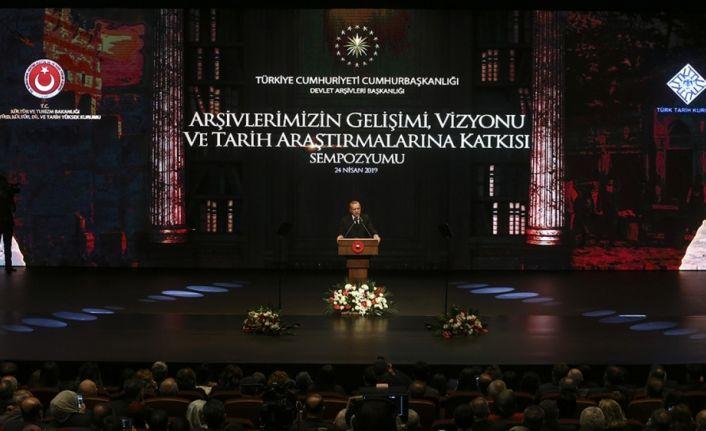 Cumhurbaşkanı Erdoğan: Amacı hakikati bulmak olan herkese arşivlerimiz sonuna kadar açık