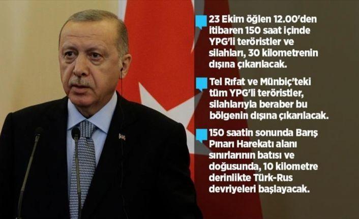 'YPG'li teröristler silahlarıyla beraber bölgenin dışına çıkarılacak'