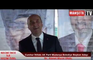 Cumhur İttifakı AK Parti Mudanya Belediye Başkan Adayı Dr. Ahmet Murat Ünal
