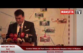 Cumhur İttifakı AK Parti Osmangazi Belediye Başkan Adayı ve Başkanı MUSTAFA DÜNDAR KONUŞTU