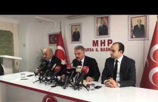 MHP Bursa İl Başkanlığının düzenlediği ve Genel Sekreteri İsmet Büyükataman programı.